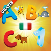 Italian Alphabet for Toddlers and Kids : Learn Italian language , letters and numbers ! FREE game