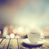 coffee on table Wallpaper