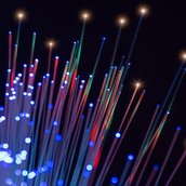 Optical fibres wallpaper