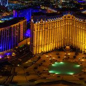 Las Vegas from the Eiffel Tower, Las Vegas(USA)